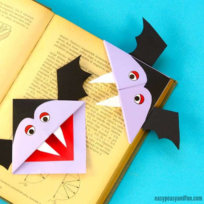 Vampire Corner Bookmark by Easy Peasy and Fun