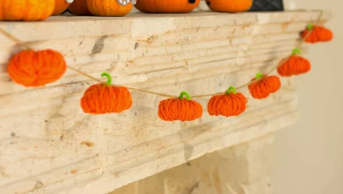 Yarn Pumpkins by Design Improvised
