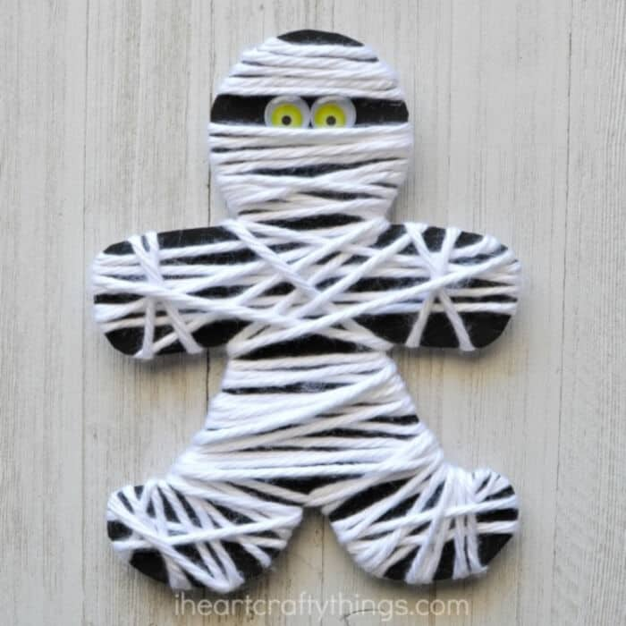 Yarn Wrapped Mummy by I Heart Crafty Things