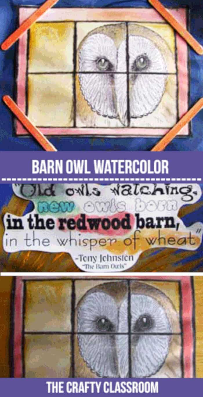 Barn-Owl-Watercolor-by-The-Crafty-Classroom