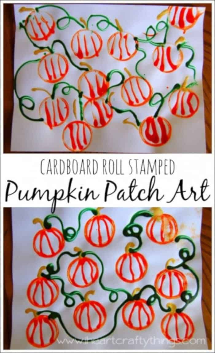 Cardboard-Roll-Stamped-Pumpkin-Patch-Art-by-I-Heart-Crafty-Things