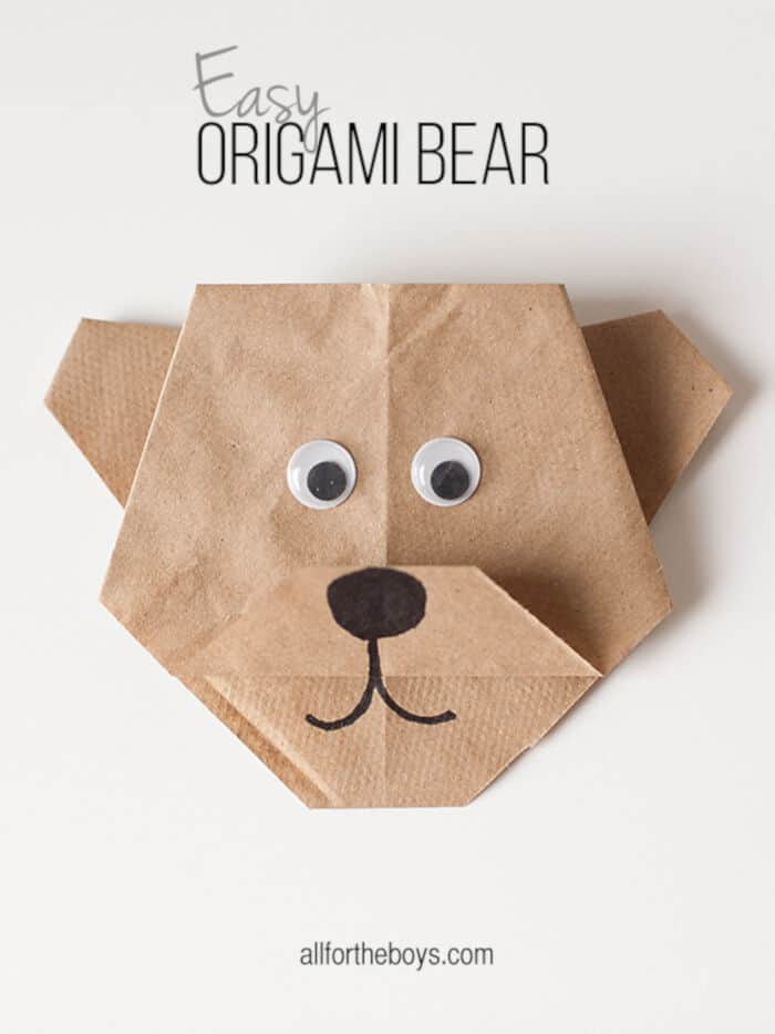 Easy-Origami-Bear-by-All-for-the-Boys