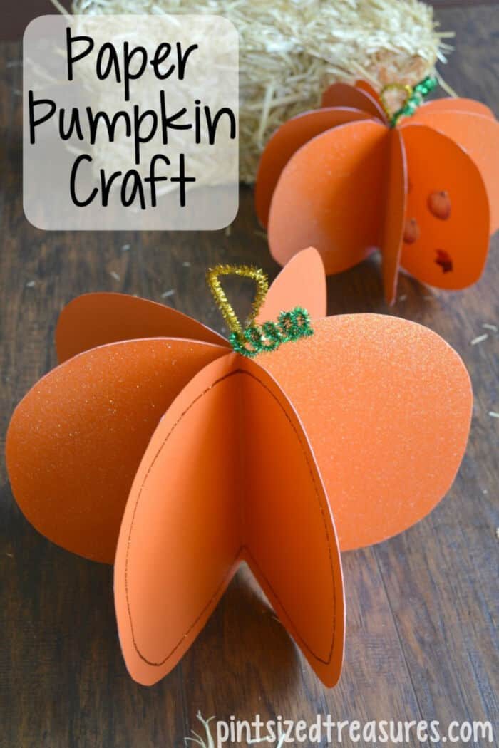 Easy-Paper-Pumpkin-Craft-by-Pint-Sized-Treasures