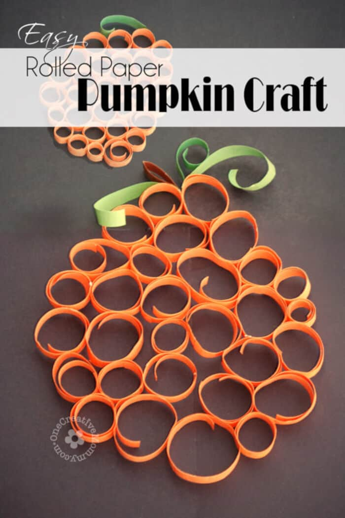 Easy-Rolled-Paper-Pumpkin-Craft-by-One-Creative-Mommy