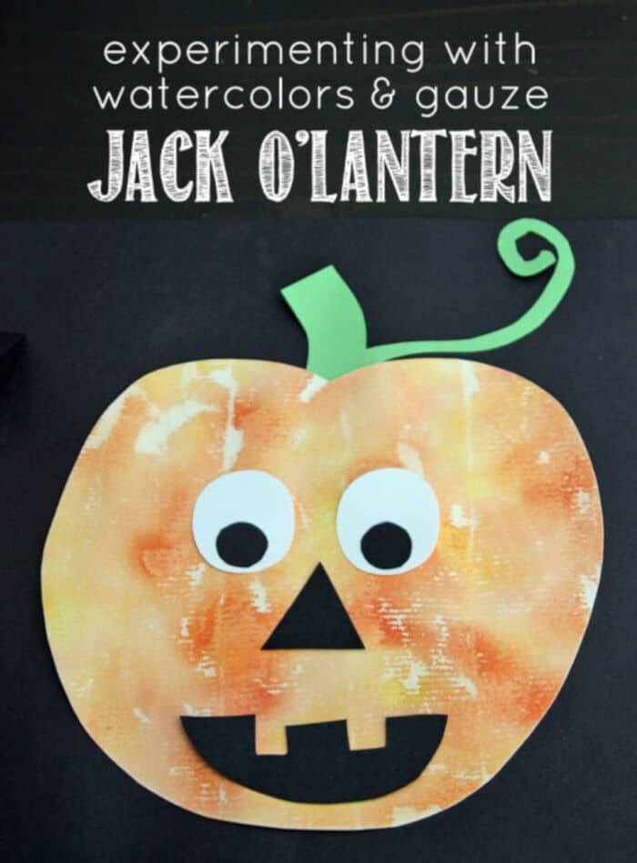 Painted-Jack-O-Lantern-with-Watercolors-and-Gauze-by-Make-and-Takes