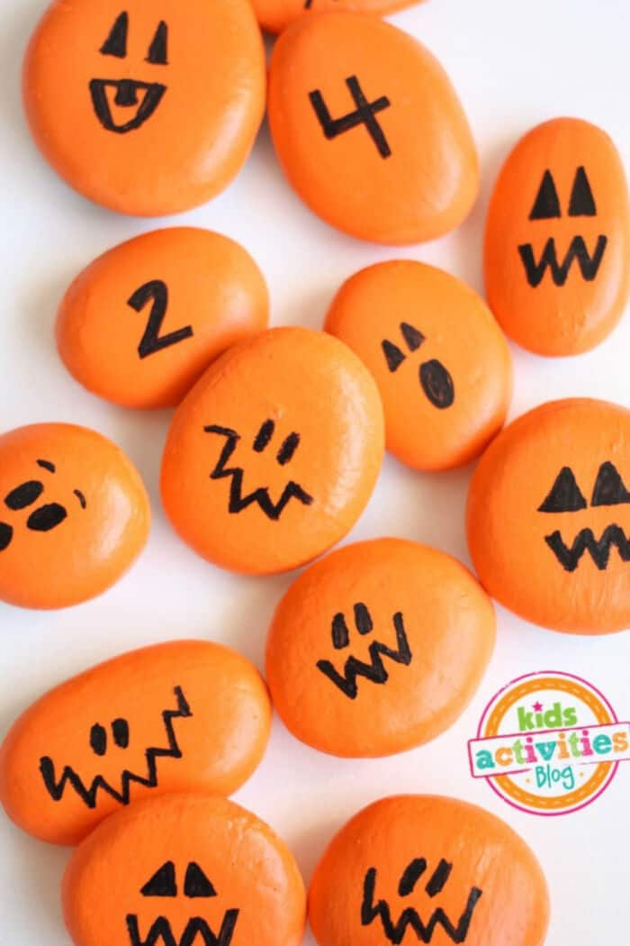 Painted-Pumpkin-Rocks-for-Play-by-Kids-Activities