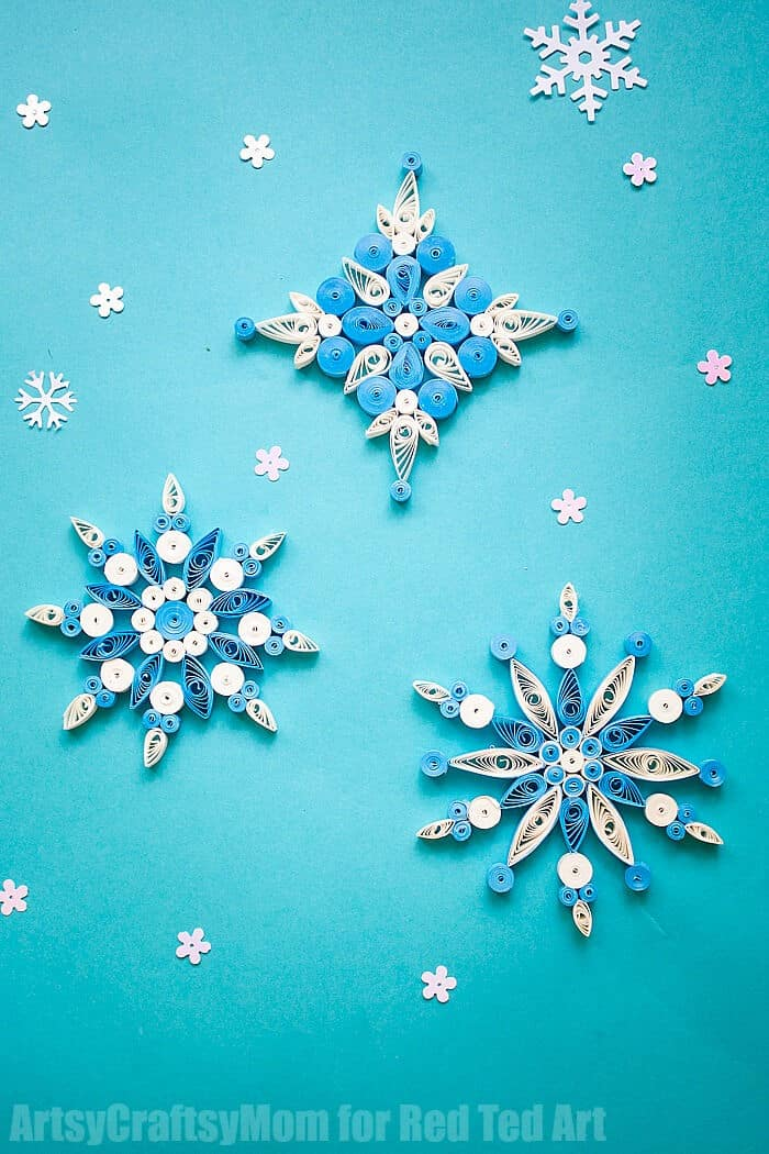 Quilled-Snowflake-Patterns-by-Red-Ted-Art