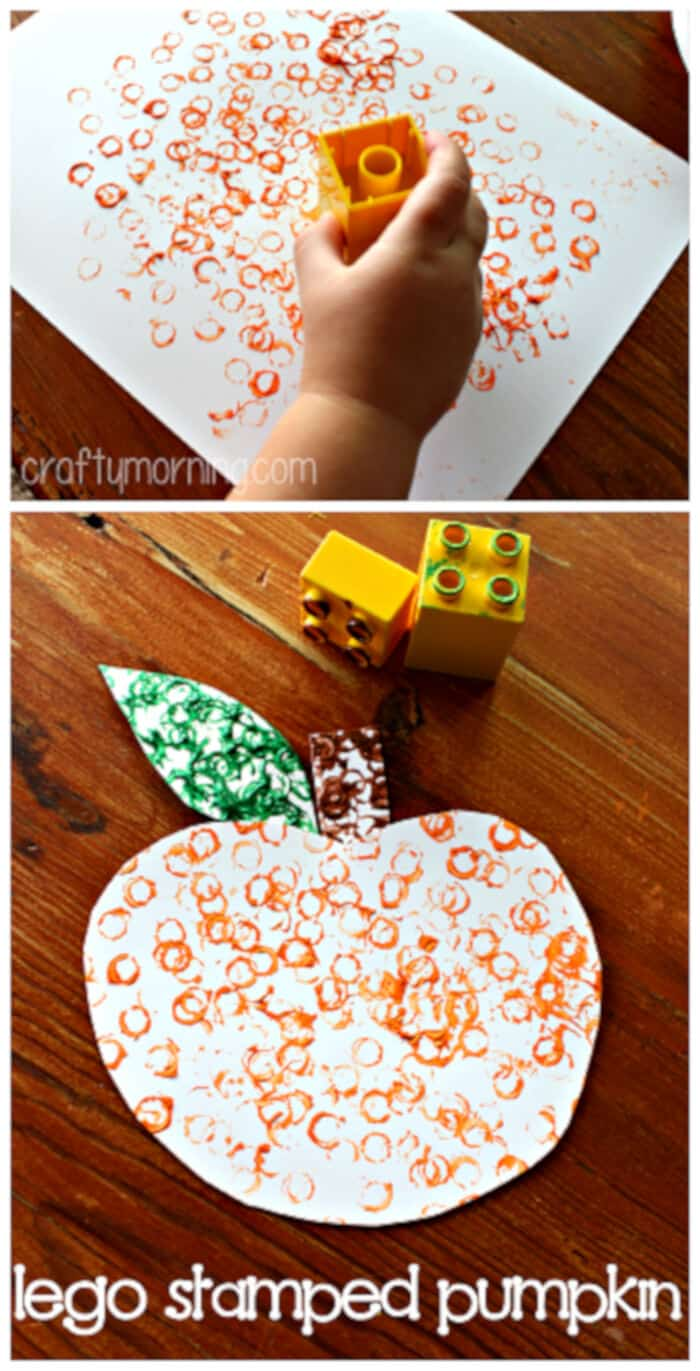 Simple-Lego-Stamped-Pumpkin-Craft-for-Kids-by-Crafty-Morning