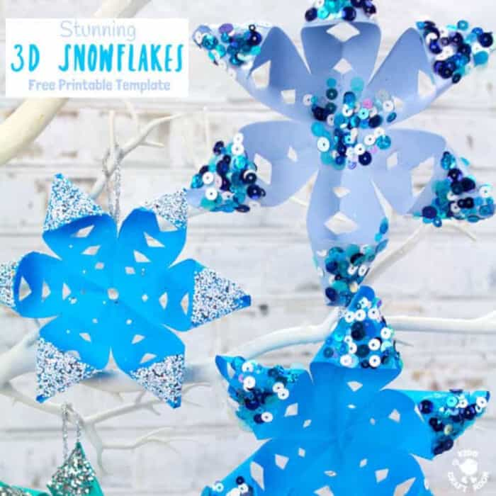 Stunning-3D-Snowflake-Craft-by-Kids-Craft-Room
