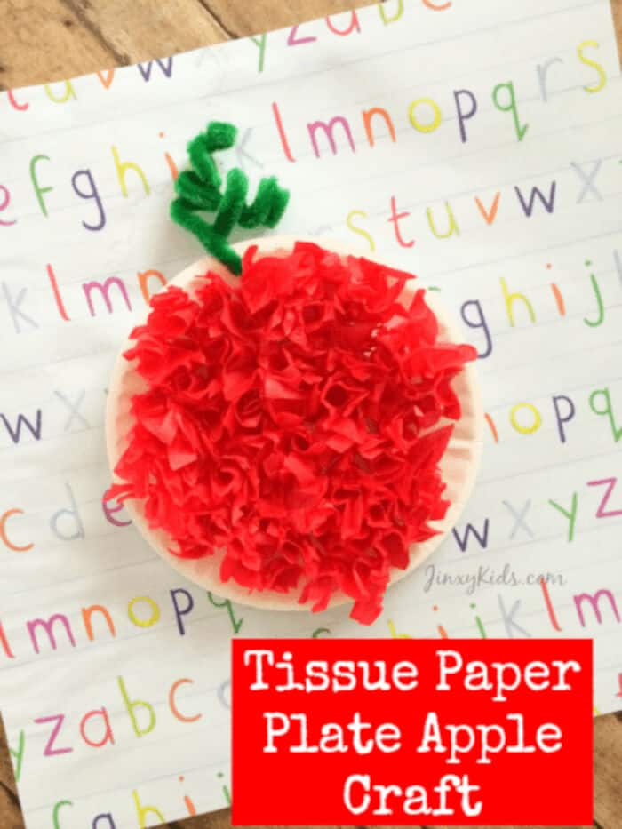 Tissue-Paper-Plate-Apple-Craft-by-Jinxy-Kids