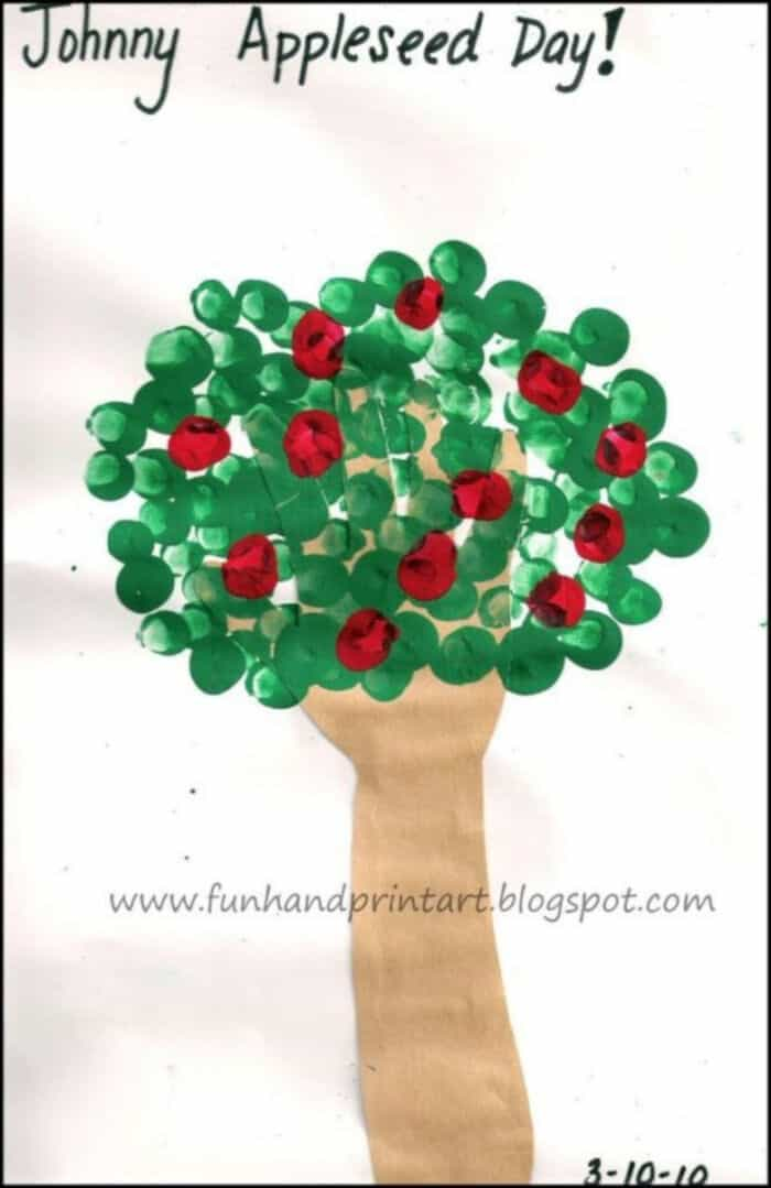 Traced-Hand-Tree-with-Fingerprint-Apples-by-Fun-Handprint-Art
