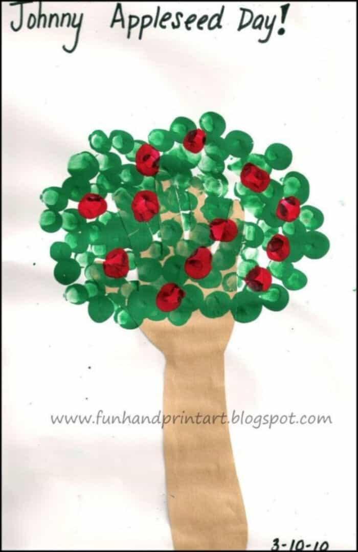 Traced-Hand-Tree-with-Fingerprint-Apples-by-Fun-Handprint-Art