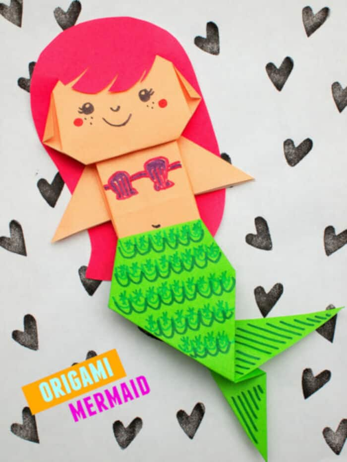 Uber-Cute-Origami-Mermaid-by-Pink-Stripey-Socks