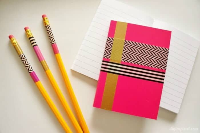 Washi-Tape-Crafts-Pencils-and-Notebooks-by-DIY-Inspired