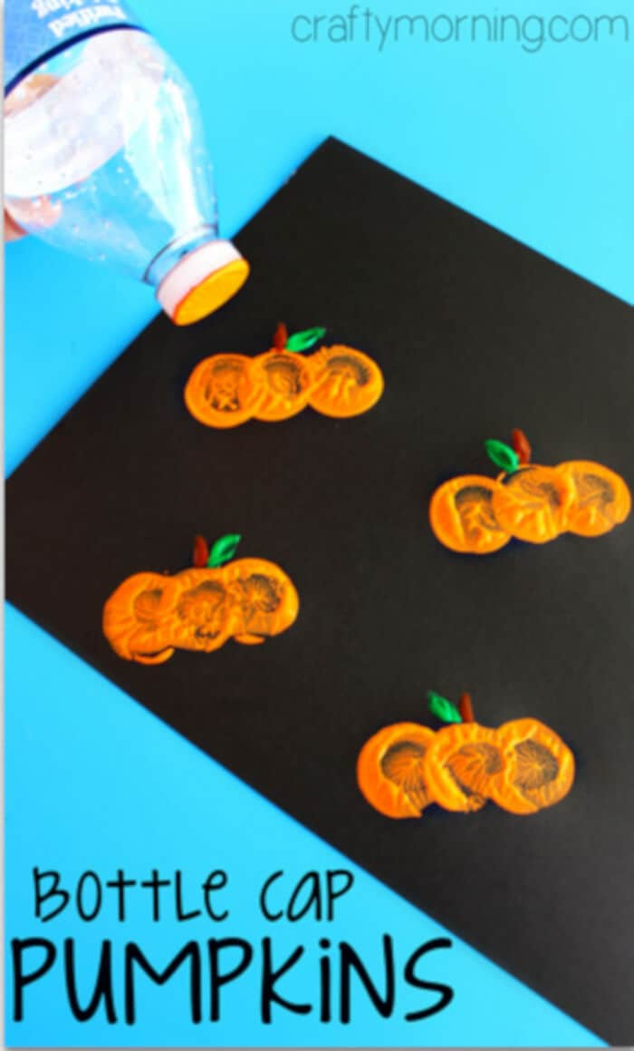 Water-Bottle-Cap-Pumpkin-Stamping-Craft-by-Crafty-Morning