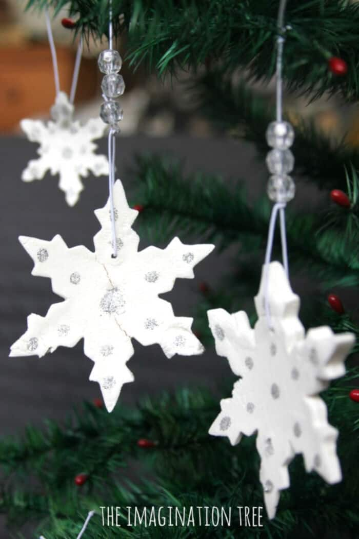 White-Clay-Snowflake-Ornaments-by-The-Imagination-Tree