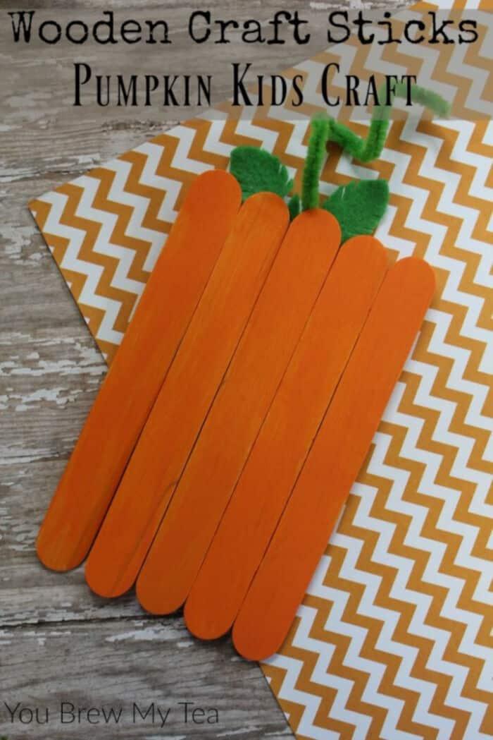 Wooden-Craft-Sticks-Pumpkin-Kids-Craft-by-You-Brew-My-Tea