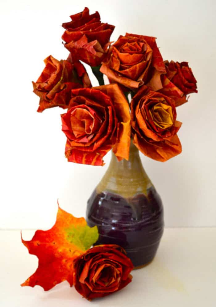 Autumn-Leaf-Bouquet-by-Design-Sponge