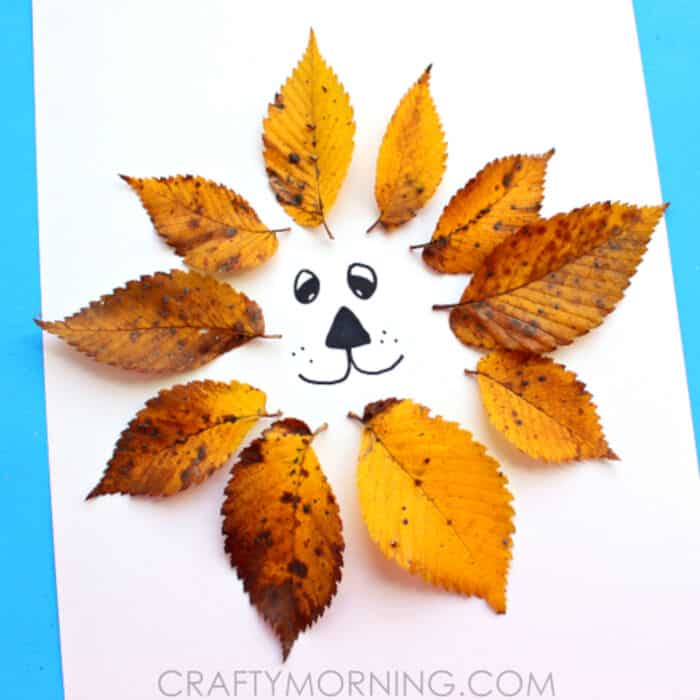 Easy-Leaf-Lion-Kids-Craft-by-Crafty-Morning