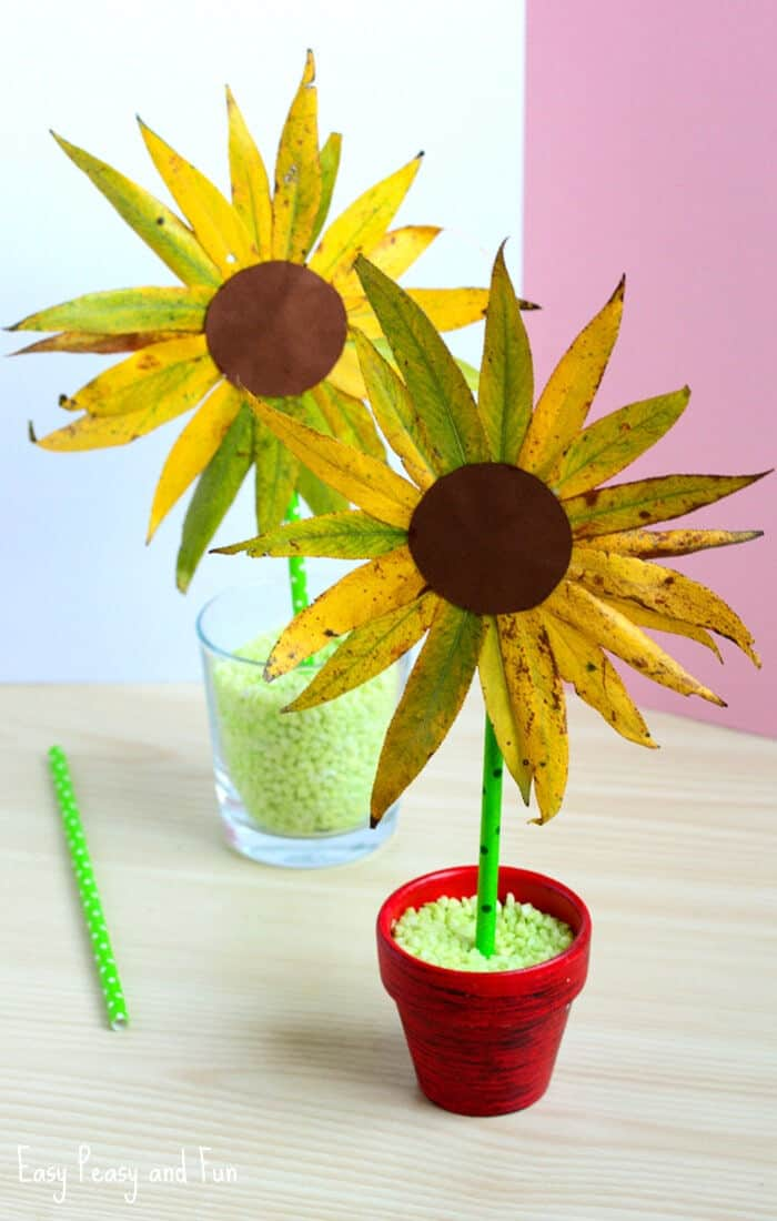 Leaf-Sunflower-Craft-by-Easy-Peasy-and-Fun