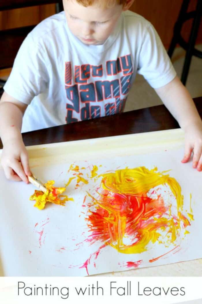 Painting-with-Fall-Leaves-Process-Art-by-Fun-Learning-for-Kids
