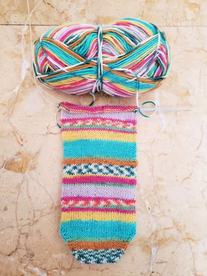 Toe Up Socks With A Difference